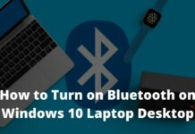 How to Turn on Bluetooth on Windows 10 Laptop