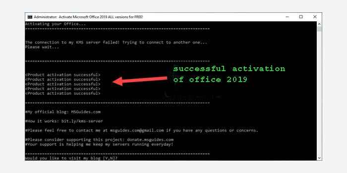 How to activate Office 2019 without software