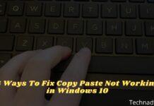 6 Ways To Fix Copy Paste Not Working in Windows 10