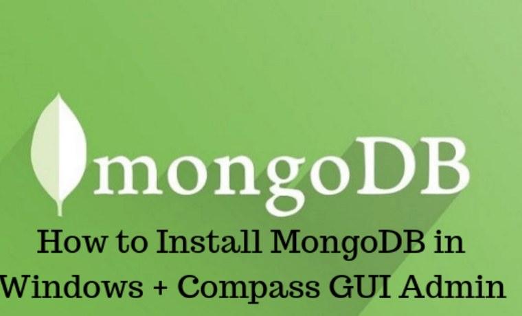 3 Ways To Install MongoDB in Windows + Compass GUI Admin